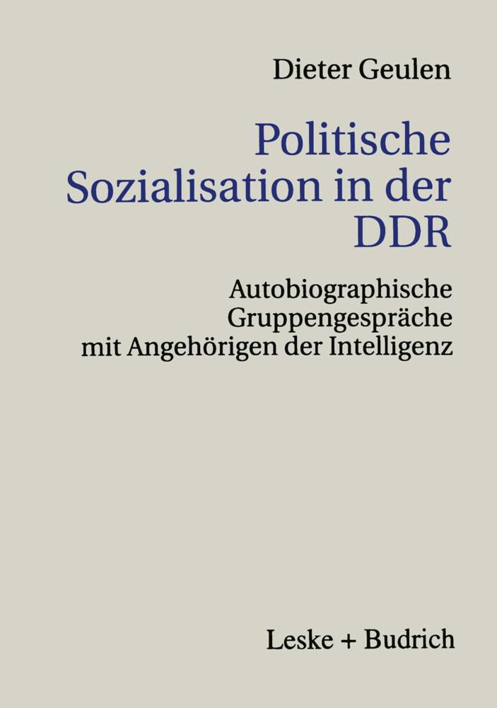 Politische Sozialisation in der DDR als Buch
