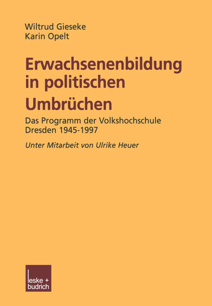 Erwachsenenbildung in politischen Umbrüchen als Buch