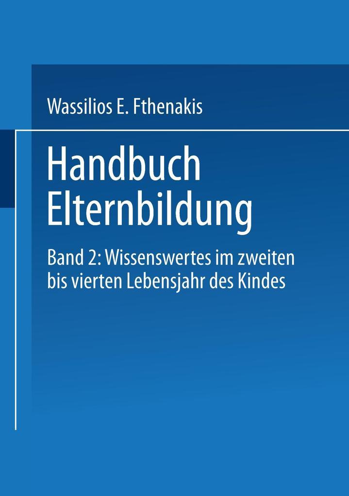 Handbuch Elternbildung 02 als Buch