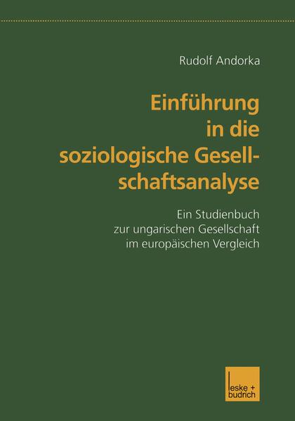 Einführung in die soziologische Gesellschaftsanalyse als Buch