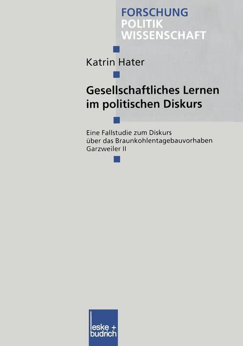 Gesellschaftliches Lernen im politischen Diskurs als Buch