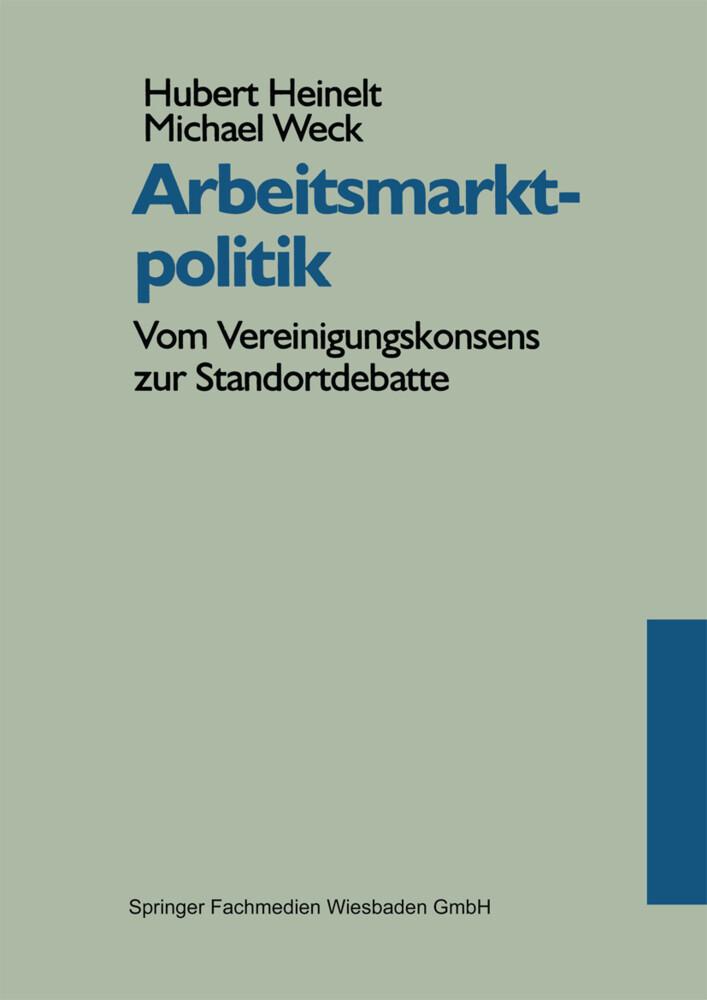 Arbeitsmarktpolitik als Buch