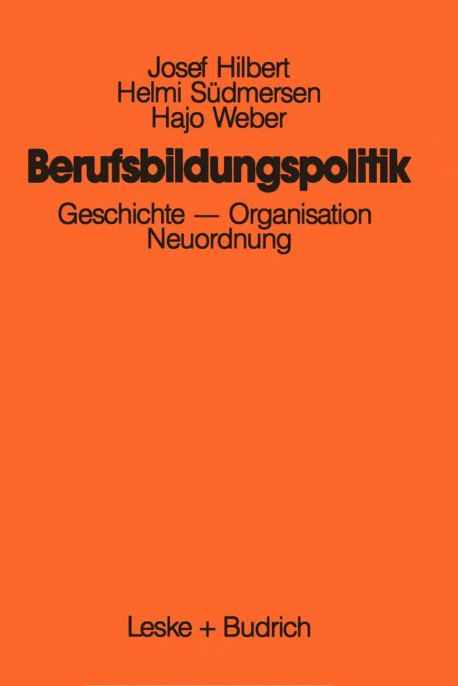 Berufsbildungspolitik als Buch