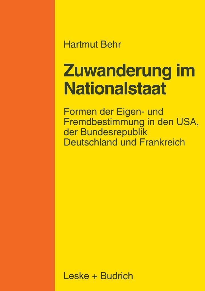 Zuwanderungspolitik im Nationalstaat als Buch