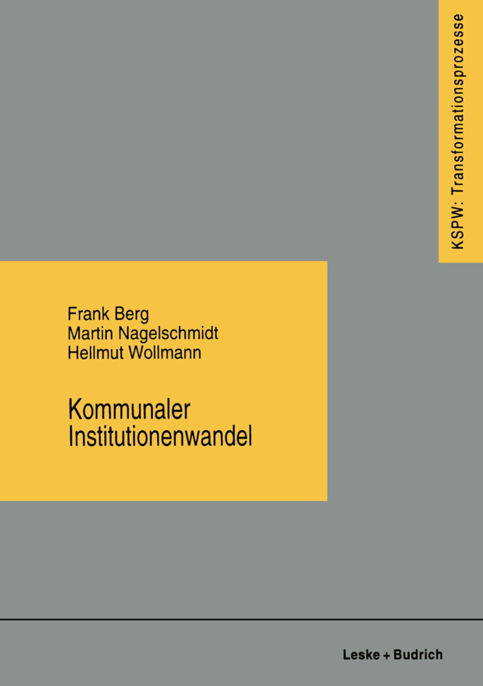 Kommunaler Institutionenwandel als Buch