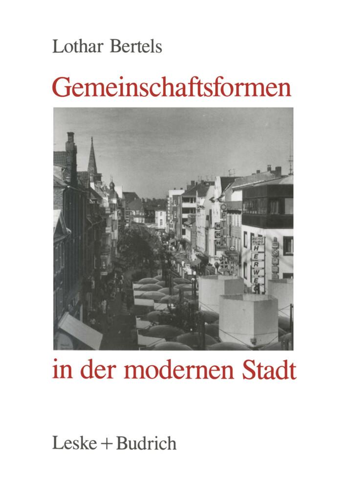 Gemeinschaftsformen in der modernen Stadt als Buch