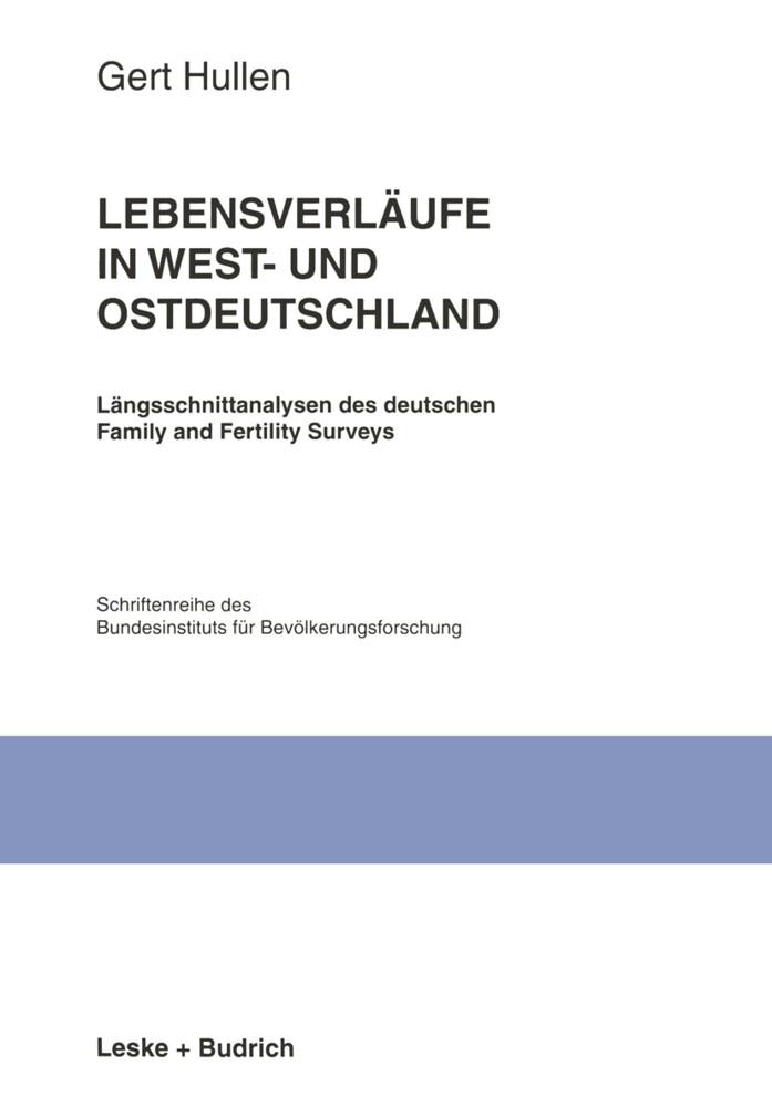 Lebensverläufe in West- und Ostdeutschland als Buch