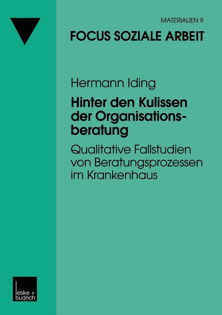 Hinter den Kulissen der Organisationsberatung als Buch