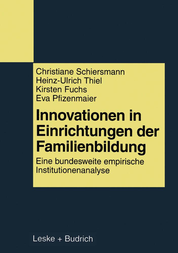 Innovationen in Einrichtungen der Familienbildung als Buch