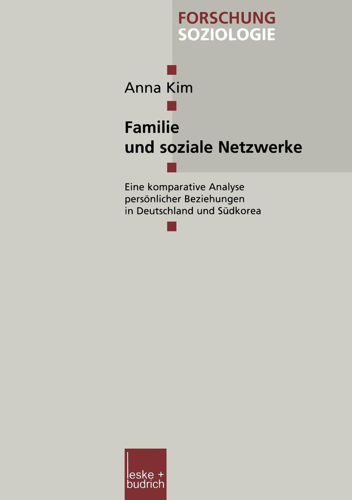 Familie und soziale Netzwerke als Buch