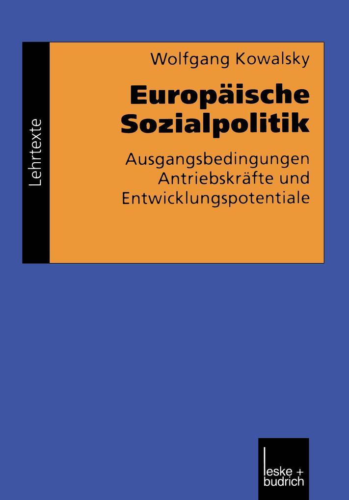 Europäische Sozialpolitik als Buch