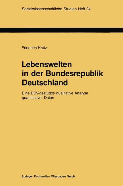 Lebenswelten in der Bundesrepublik Deutschland als Buch