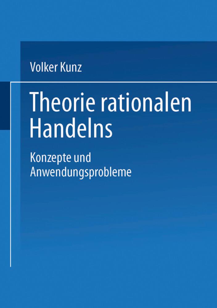 Theorie rationalen Handelns als Buch