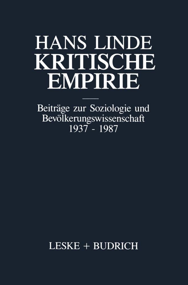 Kritische Empirie als Buch