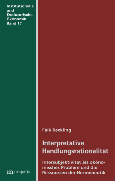 Interpretative Handlungsrationalität als Buch