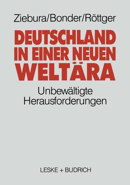 Deutschland in einer neuen Weltära als Buch