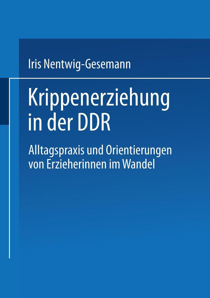 Krippenerziehung in der DDR als Buch