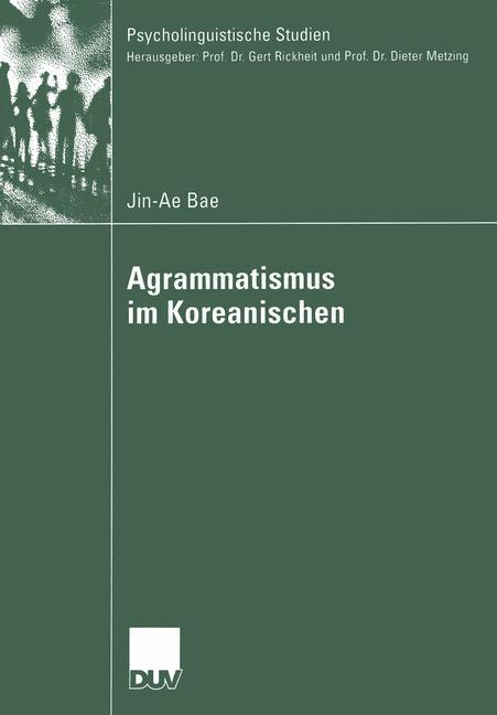 Agrammatismus im Koreanischen als Buch