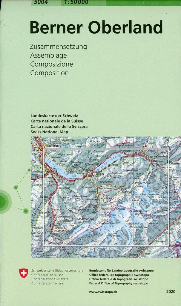 Swisstopo 1 : 50 000 Berner Oberland als Buch