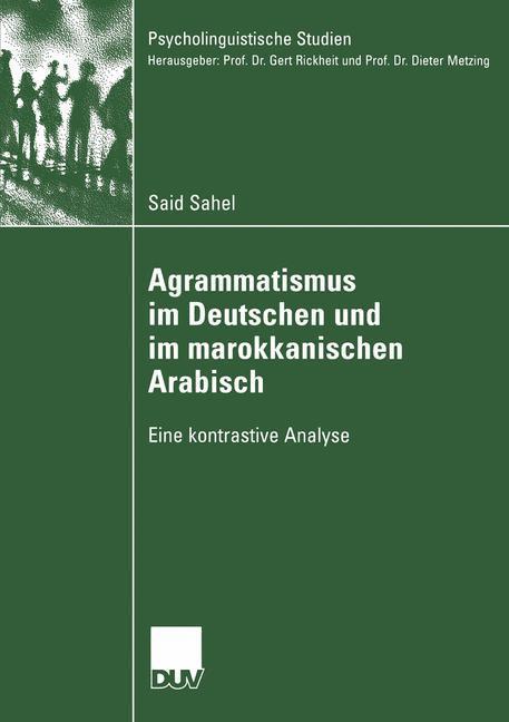 Agrammatismus im Deutschen und im marokkanischen Arabisch als Buch