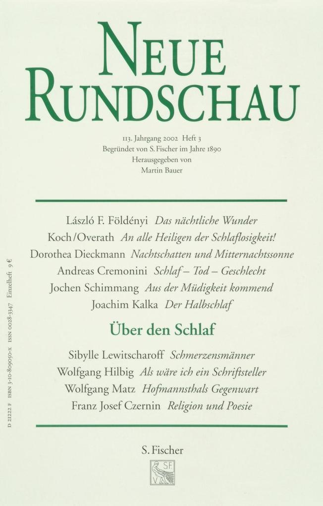 Neue Rundschau 2002/3 als Buch