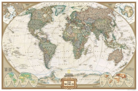 World Executive National Geographic Swiat mapa scienna als Buch