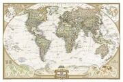 National Geographic: World Executive Wall Map - Laminated (46 X 30.5 Inches)