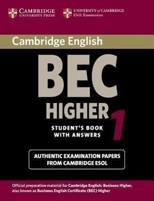 Cambridge BEC Higher 1 als Taschenbuch