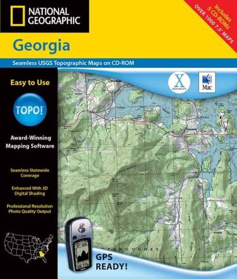 Recreation Map - Georgia - Topo! als Buch