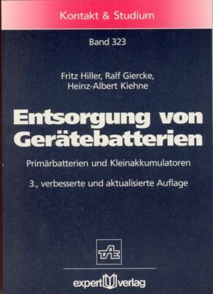 Entsorgung von Gerätebatterien als Buch