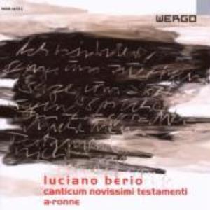 Canticum Novissimi Testamenti/ als CD