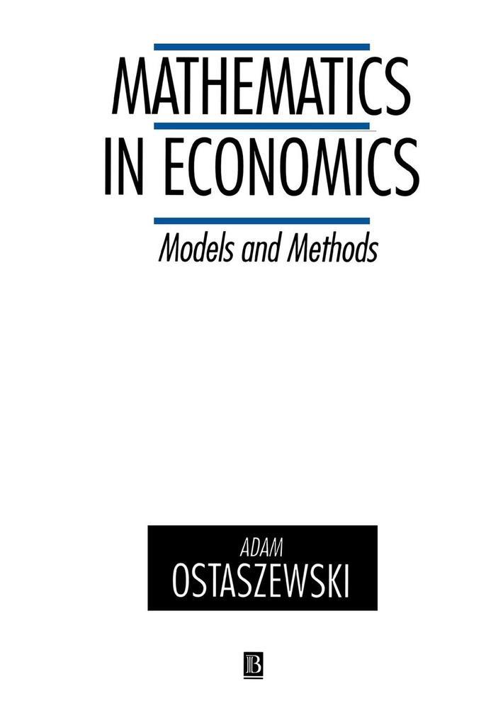 Mathematics in Economics als Buch