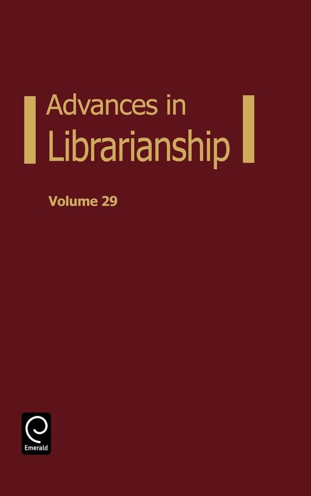 Advances in Librarianship als Buch