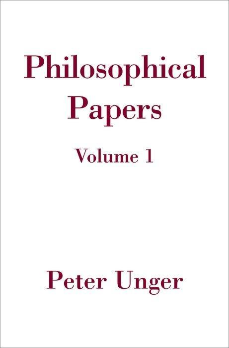 Philosophical Papers: Volume One als Buch