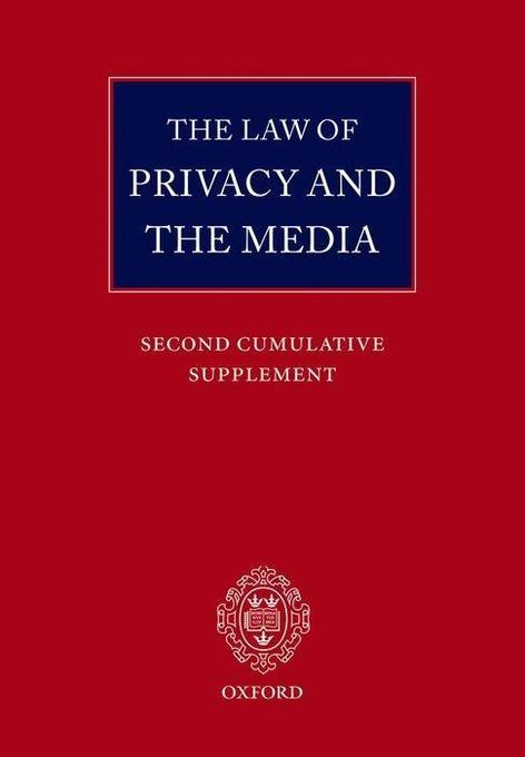 The Law of Privacy and the Media: Main Work and Second Cumulative Supplement als Taschenbuch