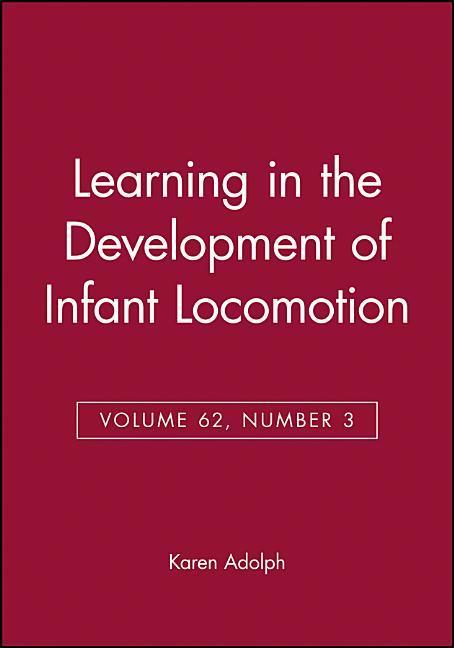 Learning in the Development of Infant Locomot als Taschenbuch