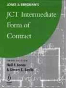 Jones and Bergman's Jct Intermediate Form of Contract als Buch