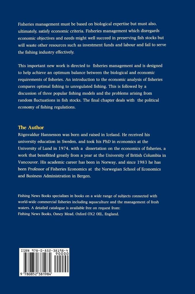 Bioeconomic Analysis of Fisherie als Buch