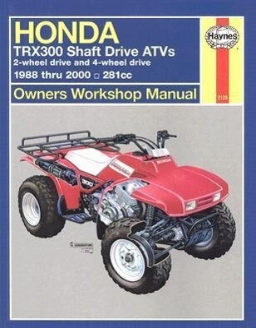 Honda Trx300 Shaft Drive Atvs: 2-Wheel Drive & 4-Wheel Drive 1988 Thru 2000 als Taschenbuch