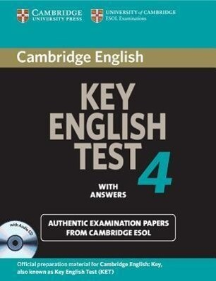 Cambridge Key English Test 4 Self Study Pack als Taschenbuch
