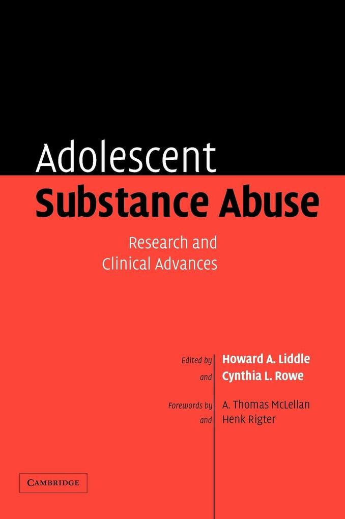 Adolescent Substance Abuse: Research and Clinical Advances als Buch