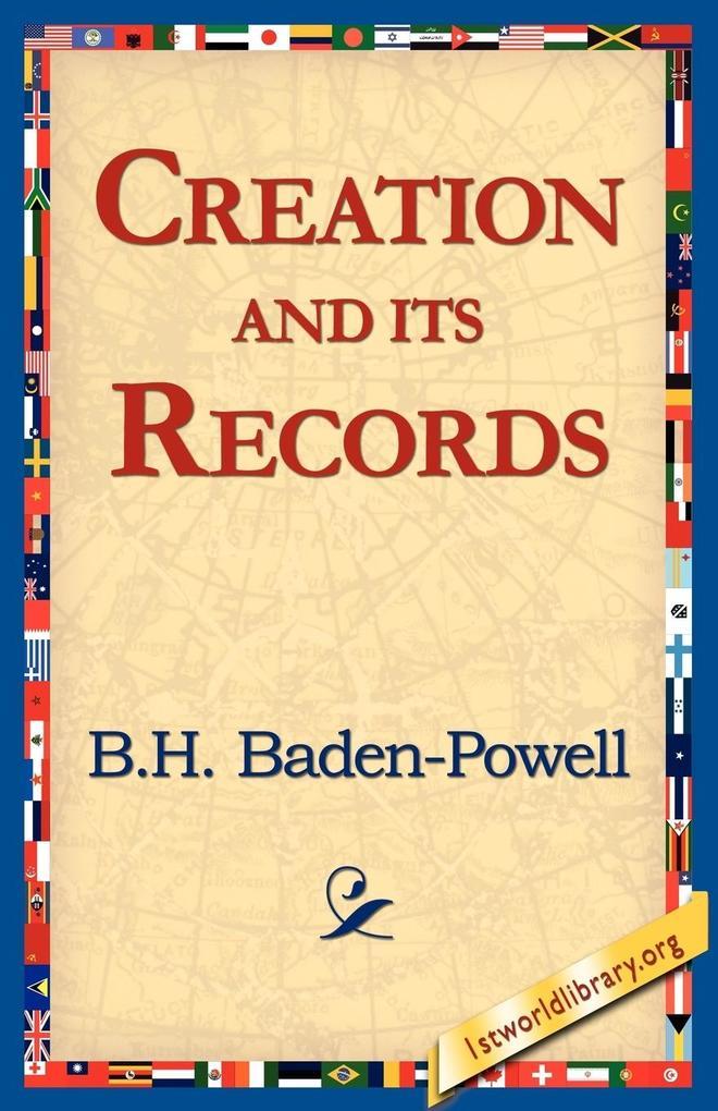 Creation and Its Records als Taschenbuch
