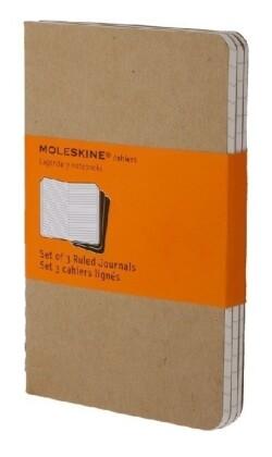 Moleskine Cahier pocket liniert packpapierbraun DIN A6. 3er Pack als Spielwaren