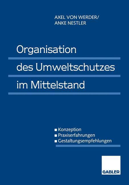 Organisation des Umweltschutzes im Mittelstand als Buch