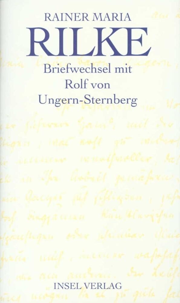 Briefwechsel mit Rolf von Ungern-Sternberg als Buch