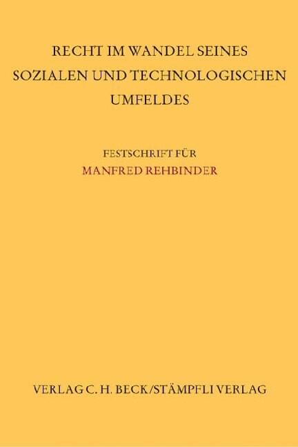 Festschrift für Manfred Rehbinder als Buch