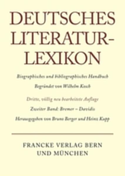 Bremer - Davidis als Buch