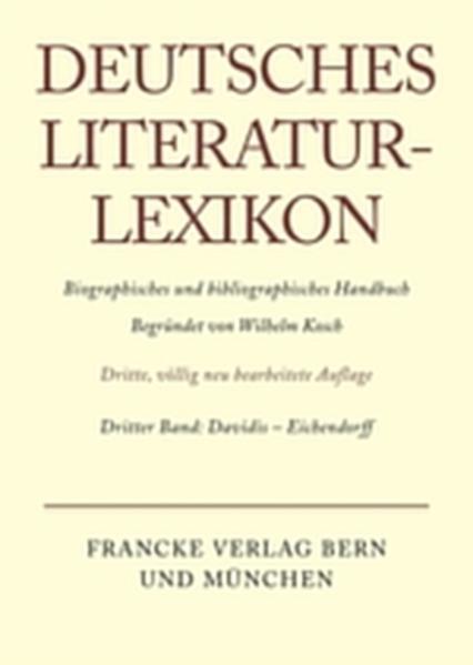 Davidis - Eichendorff als Buch