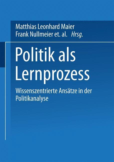 Politik als Lernprozess als Buch