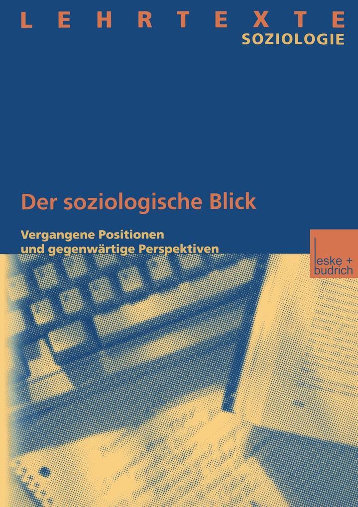 Der soziologische Blick als Buch